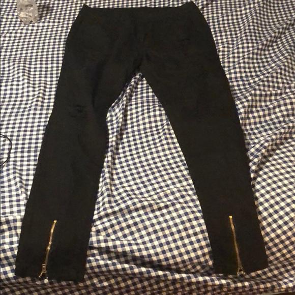 Other - Distress black men skinny jeans